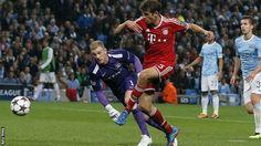 Joe Hart, Manchester City's goalkeeper, had a rough afternoon vs Bayern Munich, giving up 2 easy goals.