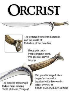 Thorin's Orcrist, this is something I actually didn't know about LOTR