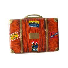 Rare Suitcase Compact With Powder and Rouge  Vintage by openslate