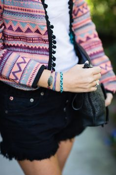 cute jacket, shorts, and accessories!