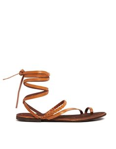 db0410255c6 ASOS FAIRY Leather Flat Sandals at asos.com. Women s Shoes SandalsLace Up  ...