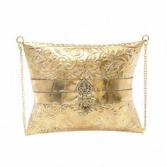 Bolsa Baú Dourada Onyx & Shell
