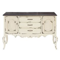 Charming Shabby Chic Lyon Sideboard - Great entry table or Couch table. Can even use as a tv stand. Or in the kitchen as a buffet.
