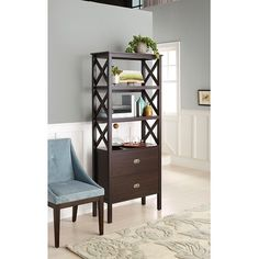 """Attractive storage for any room in your house makes the Bookcase Brown 3 Shelf and easy choice. This bookshelf has three generous shelves to hold everything from heavy textbooks to small, treasured keepsakes. The top surface is also ideal for storing or decorating. With two drawers you can store ore mementos or those little odds and ends you love to have nearby, but out of sight. This shelf will instantly become one of your favorite pieces. 72""""x30.53""""x13.63"""" (HxW..."""