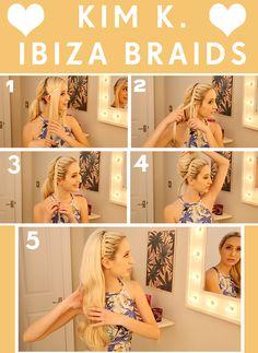 How to get Kim Kardashian's Ibiza hairstyle ♥