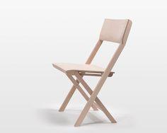 Skim Milk: Pli Folding Chair by Florian Hauswirth - Design Milk