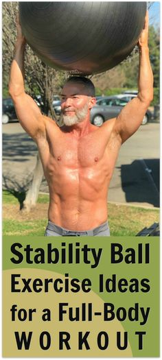 A stability ball is a beneficial workout tool for full-body fitness training, particularly for strengthening the important core muscles. Try these 14 exercises. #stability #ball #exercise #swissball #balance #core #muscles #fitness #over50 #agility #training via @danenow
