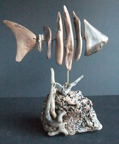 Driftwood skeletal fish