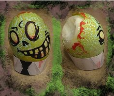 Zombie Easter Eggs... I'm SO making these for Easter!