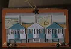 De Kaartenkraam Paper Art, Paper Crafts, Nautical Cards, Beach Cards, Book Sculpture, Sea Theme, Marianne Design, Pretty Cards, Beach Themes