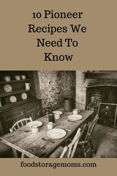 10 Pioneer Recipes We Need To Know - Food Storage Moms We may be going back to cooking more and more pioneer recipes because of the price of groceries or even a grid down. Please be prepared for the unexpected. Retro Recipes, Old Recipes, Vintage Recipes, Family Recipes, Recipes Dinner, Cake Recipes, Frugal Meals, Cheap Meals, Budget Meals