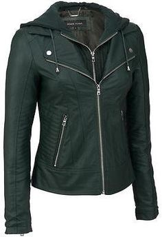 e3073e83b90e Black Rivet Womens Faux-Leather Center Zip Jacket W Cable Knit Hood -  55.99