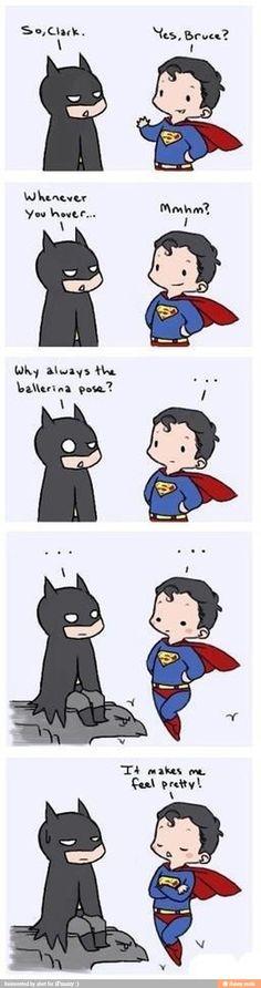 Ha ha! #batman #superman #humor
