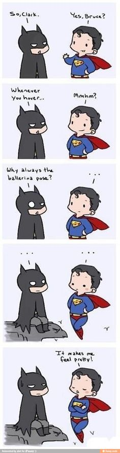 Ha ha! #batman #superman #humor