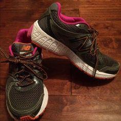 New Balance 680 V2 Gray pink and orange New Balance Shoes Athletic Shoes