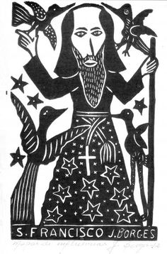 S. Francisco, xilogravura do artista pernambucano J. Borges – Divulgacao
