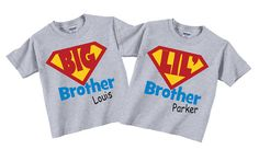 Big and Little Brother Shirts for Boys with by TheCuteTee on Etsy, $26.95