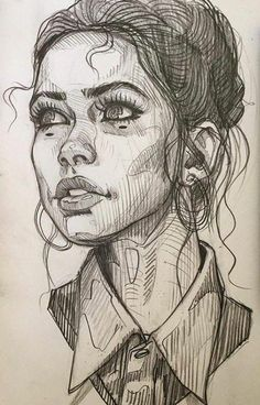 Kunst Konzept Illustration Graphitstift Portrait Zeichnung in 2020 Cool Art Drawings, Pencil Art Drawings, Art Drawings Sketches, Drawing Faces, How To Draw Faces, Simple Face Drawing, Baby Face Drawing, Sketches Of Girls Faces, Drawing Designs