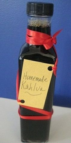 Homemade Kahlua -- Needs To Stew For 3 Weeks -- Fun Holiday Gift Idea