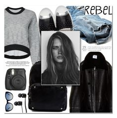 """""""Rebel Chic"""" by makeupgoddess ❤ liked on Polyvore featuring Vetements, Madden Girl, Fendi, GE, Fujifilm, Vans and Tory Burch"""