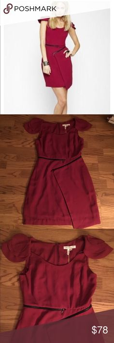 New BCBG raspberry wine zipper dress Adorable zipper dress with lining underneath. Perfect for any occasion. **** says size 8 but fits more like a size 6 hence why I listed it as its true size BCBGeneration Dresses Midi
