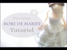 Robe de mariée en polymère/  Wedding Dress polymer clay