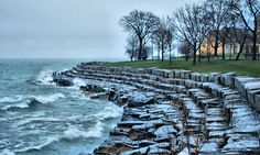 Turbulent Waters off Promontory Point, Hyde Park, Chicago   Flickr - Photo Sharing!