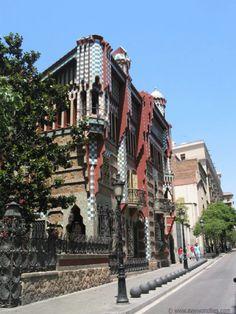 Casa Vicens, Gaudi, Barcelona, Spain.