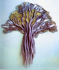 Anna Kubinyi, Artist, Thousand Year Old Tree, textile picture, 2000. Photo: Gabor Kubinyi