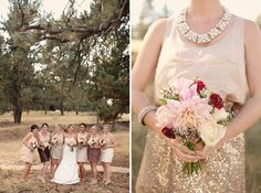 {Bridesmaids Style} : Sequins and Lace | bellethemagazine.com