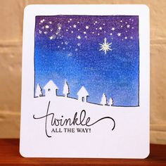 Ideas & Paper: Twinkle All the Way... Mama Elephant sentiment paired with Memory Box country landscape die.