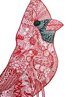 Cardinal Cardinal by Adrienne Price