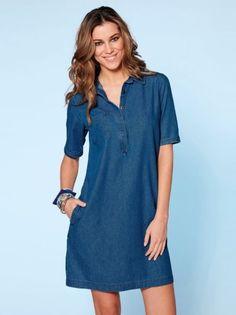 Khaki linen dress maxi dress c Simple Dresses, Nice Dresses, Casual Dresses, Short Dresses, Casual Outfits, Fashion Outfits, Summer Dresses, Womens Fashion, Jeans Dress