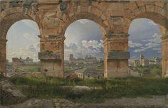 Udsigt gennem tre buer i Colosseums tredje stokværk - C.W. Eckersberg - Wikipedia, den frie encyklopædi