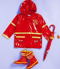 Kids Fire Chief Rain Gear.