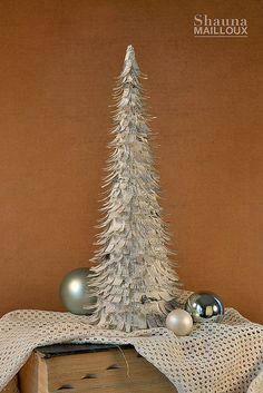 DIY Christmas Cone Trees   The Budget Decorator