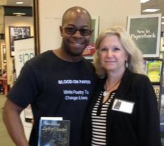 Together with poet Maurice Bishop at 6.20.15 booksigning for Traveling Left of Center--Barnes & Noble, Cranberry Twsp. PA