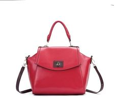 Elegant Western Hot Sale Leather Bags Red