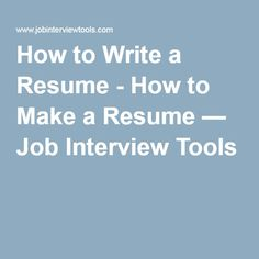 Learn How to Write a Resume using my simple 5 step writing method with videos. I'll show you How to Make A resume so employers call you for job interviews How To Make Resume, Perfect Resume, Resume Writing, Professional Resume, Resume Examples, Job Search, Business Planning, Interview, Tools