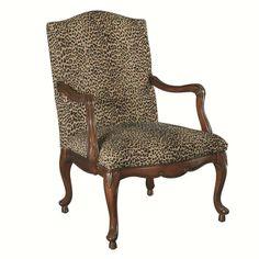 Treasures leopard accent chair in warm brown nebraska furniture mart