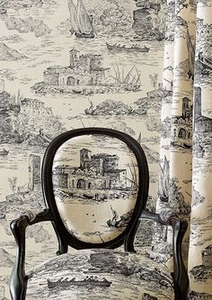 Manuel Canovas Wallpaper and Fabric 'Rochefort' - Cowtan and Tout Chinoiserie, Decorating Your Home, Diy Home Decor, Motifs Textiles, French Country House, Decoration, House Design, Black And White, Cement Tiles