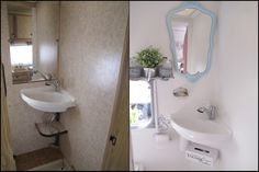 Home Sweet Motorhome Makeover Before and After - Bathroom