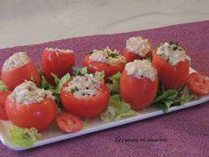 La cuisine en amateur de Maryline: Tomates garnies thon et oeuf