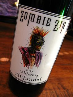 Look what my hubby brought home for me tonight! Zombie Zin - Wines for Horror Fans Zinfandel Wine, Just In Case, Just For You, Evil Dead, Zombie Apocolypse, Zombie Attack, Zombie Party, Dead Zombie, Fancy Drinks