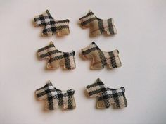Destash...Padded Felt Plaid Scotty Puppy Dog Pieces for Hair Clips Bows Applique Embellishments. $2.20, via Etsy.