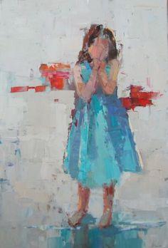 Barbara Flowers, 'Playful', Oil on Canvas, 36x24 - Anne Irwin Fine Art