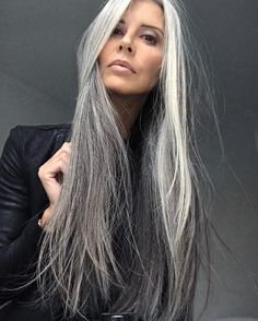 Beautiful silver hair. You never need to color if your hair looks like this.