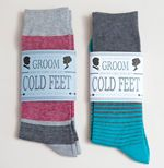 This tutorial shows you step by step how to easily make 'groom cold feet socks' gift for your fiance ~ with FREE design printables!