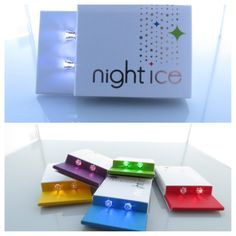 What better way to bring in the holidays than with a pair of glowing earrings! Shine for the season! www.Night-Ice.com