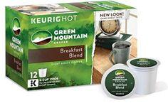 Green Mountain Coffee Breakfast Blend, Keurig K-Cups, 72 Count…